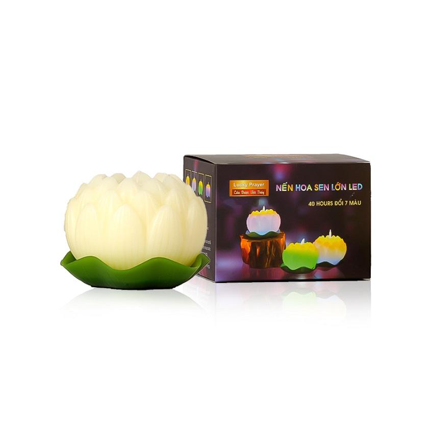 Nến thơm hoa sen lớn đổi màu đèn LED MIC5272 (Lựa chọn: vàng nhạt, hồng nhạt) - 2299749 , 2003625297013 , 62_14791106 , 200000 , Nen-thom-hoa-sen-lon-doi-mau-den-LED-MIC5272-Lua-chon-vang-nhat-hong-nhat-62_14791106 , tiki.vn , Nến thơm hoa sen lớn đổi màu đèn LED MIC5272 (Lựa chọn: vàng nhạt, hồng nhạt)