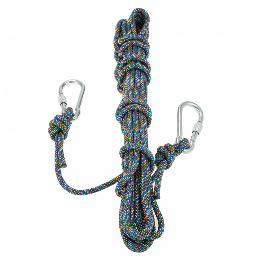 Lixada 8mm x 10m Outdoor Safety Rock Climbing Rope Cord Caving Rappelling Abseiling Rescue Survival Accessory Cord Sling - Blue