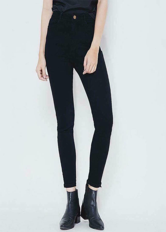 Quần jeans đen ôm tôn dáng VANASS VQJ10