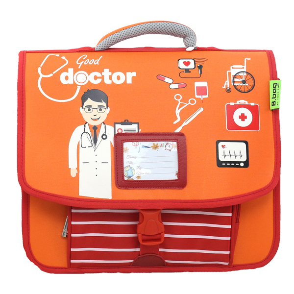 Cặp Học Sinh B.BAG Doctor C-12-023 - Cam (33.5 x 30 x 10.5 cm)