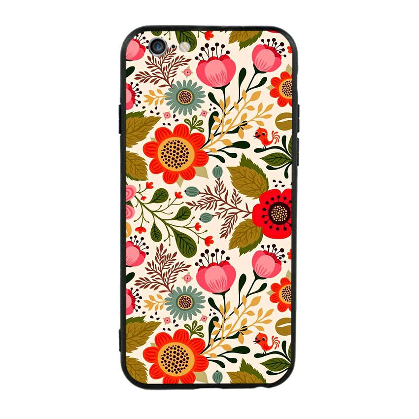 Ốp lưng nhựa cứng viền dẻo TPU cho điện thoại Iphone 6 Plus/6s Plus - Flower 04
