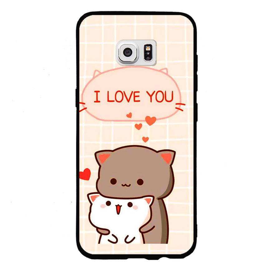 Ốp lưng viền TPU cho điện thoại Samsung Galaxy S7 - I Love U