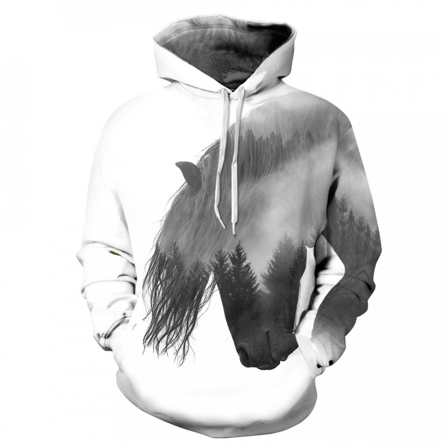 Hoodies Sweats Funny 3D Polyester Outwear Couples