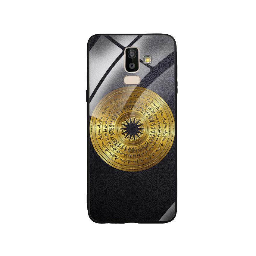 Ốp Lưng Kính Cường Lực cho điện thoại Samsung Galaxy J8 - Trống Đồng 05