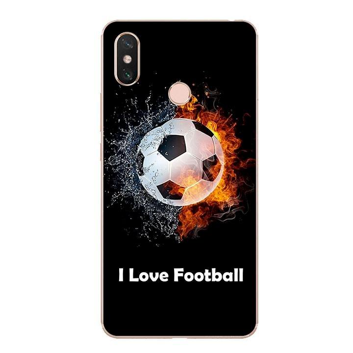 Ốp lưng dẻo cho điện thoại Xiaomi Mi Max 3 - I Love Football