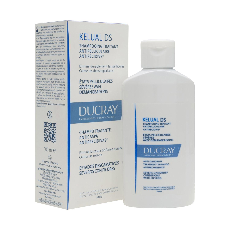 Dầu gội sạch gầu, dịu ngứa và đỏ da đầu Ducray Kelual DS 100ml