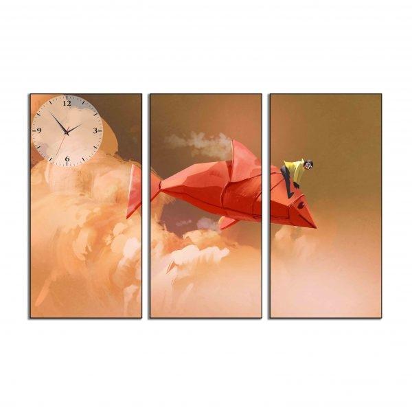 Tranh đồng hồ in Canvas Cá giấy tung bay - 3 mảnh - 7086593 , 3610554087852 , 62_10361980 , 642500 , Tranh-dong-ho-in-Canvas-Ca-giay-tung-bay-3-manh-62_10361980 , tiki.vn , Tranh đồng hồ in Canvas Cá giấy tung bay - 3 mảnh