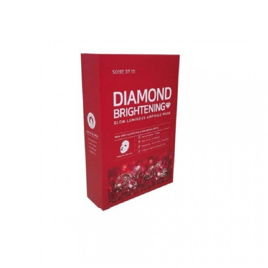 Bộ 10 Mặt Nạ Giấy Some By Mi Glow Luminous Ampoule Diamond Brightening Mask x10
