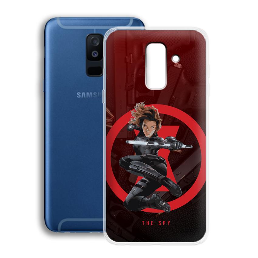 Ốp lưng cho điện thoại Samsung Galaxy A6 Plus 2018 - 01025 0538 SPY01 - Silicone dẻo - Hàng Chính Hãng