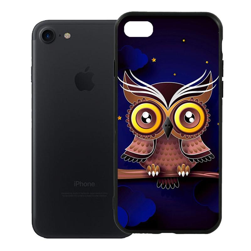 Ốp Lưng Viền TPU Cao Cấp Dành Cho iPhone 7 - Cú Đêm