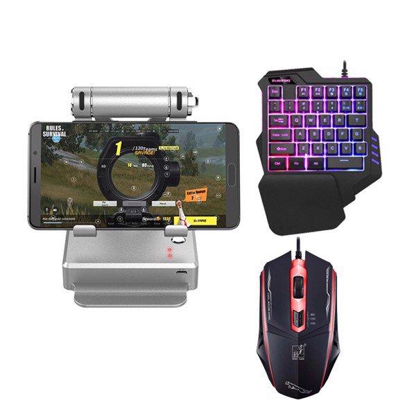 Combo Dock GameSir X1 BattleDock, Chuột Promax 4D, Bàn phím bán cơ Promax P92 chơi PUBG, Rules Of Survival