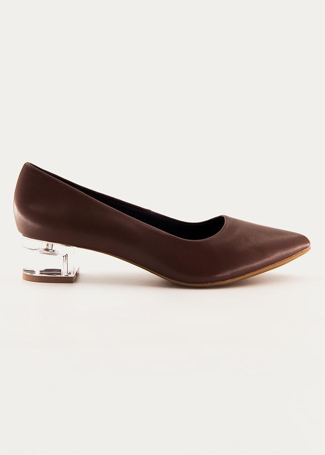 Giày Bít Mũi Nữ Gót Đá Ivanka BT012