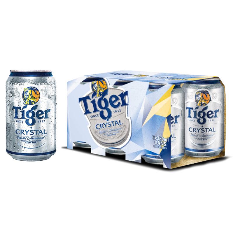 Lốc 6 Lon Tiger Crystal (330ml / Lon)
