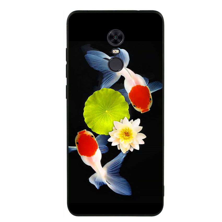 Ốp lưng viền TPU cho điện thoại Xiaomi Redmi 5 Plus - Cá Koi 04