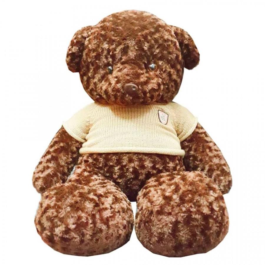 Gấu bông teddy nâu đậm 1m2 áo len nâu - 9522469 , 3468351288312 , 62_8151908 , 1000000 , Gau-bong-teddy-nau-dam-1m2-ao-len-nau-62_8151908 , tiki.vn , Gấu bông teddy nâu đậm 1m2 áo len nâu