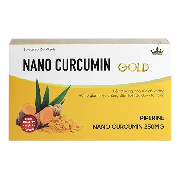 Thực Phẩm Chức Năng Tăng Đề Kháng Nano Curcumin Gold (3 Vỉ x 10 Viên)