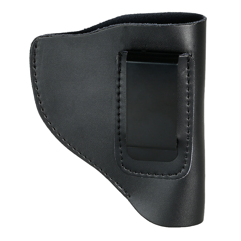 Left Portable Lightweight Hunting Gear Holder Bag Leather Concealed Carry Holster Bag with Clip