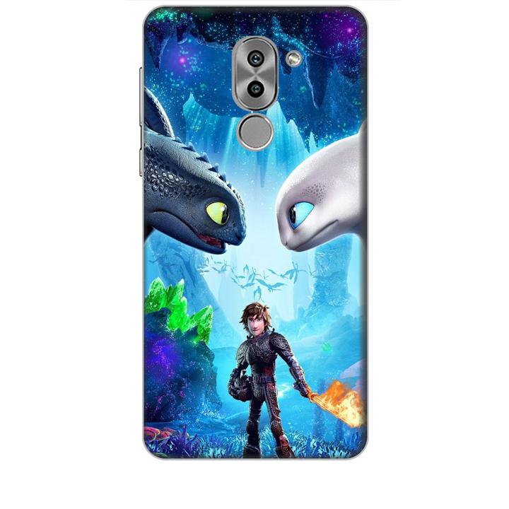 Ốp lưng dành cho điện thoại Huawei GR5 2017 hình Baby and Dargon