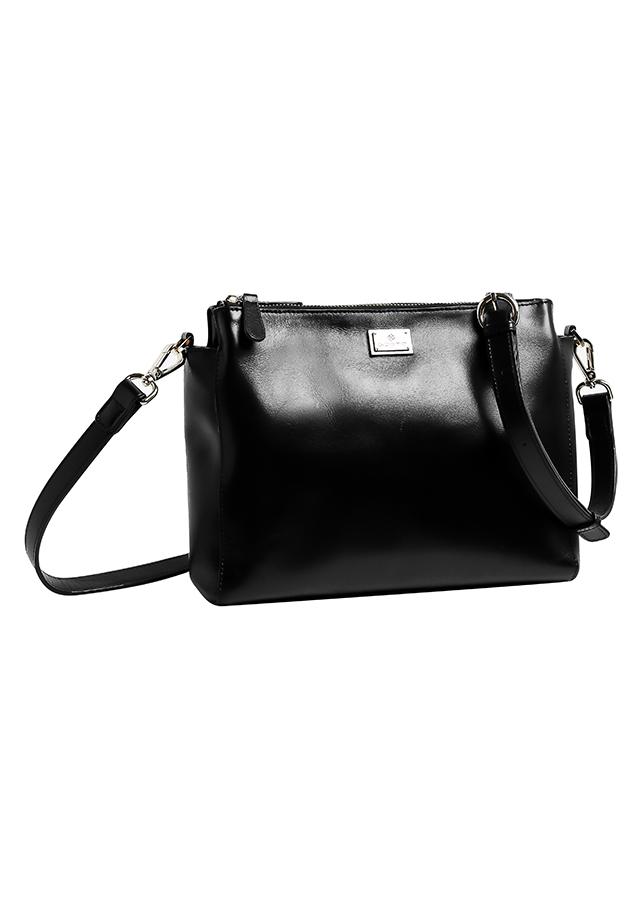 Túi Da Thật Emeral Crossbody Bag Gosto GDB000931BLK21 (21 x 25 cm) - Đen