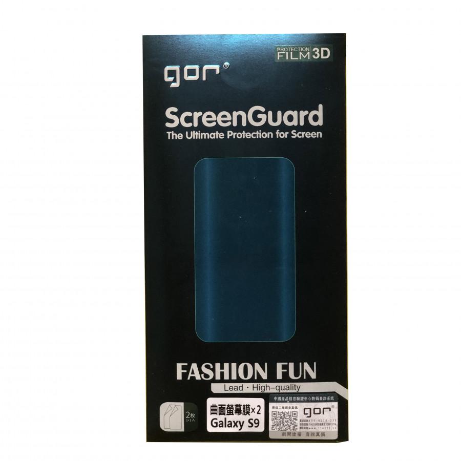 Bộ Dán Dẻo Gor Samsung Galaxy S9 Plus ( 2 Miếng Mặt Trước + 1 Miếng Cacbon Sau +1 Bộ Vệ Sinh)