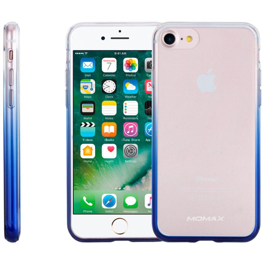 Vỏ Điện Thoại iPhone 7/8, Nhựa TPU - MOMAX - Viền Xanh