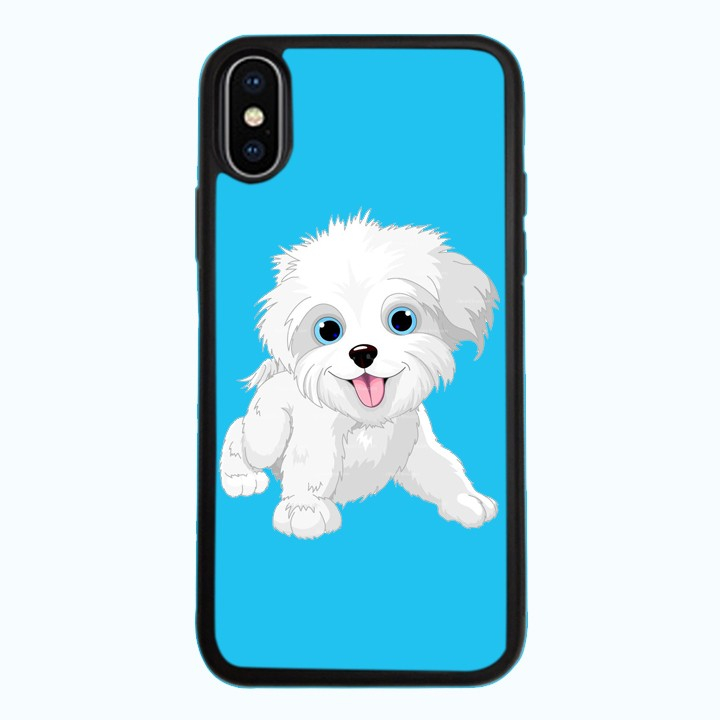 Ốp Lưng Kính Cường Lực Dành Cho Điện Thoại iPhone X Puppy Cute Mẫu 3