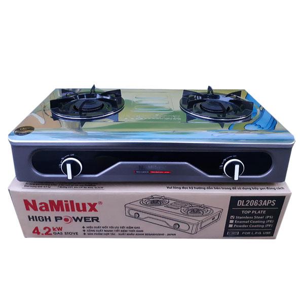 Bếp gas đôi cao cấp mặt inox Namilux DL2063APS Hàng chính hãng