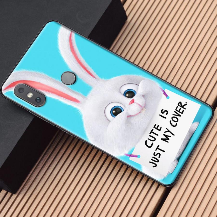 Ốp lưng dành cho Xiaomi Mi Mix 2S mẫu Thỏ trắng nền xanh