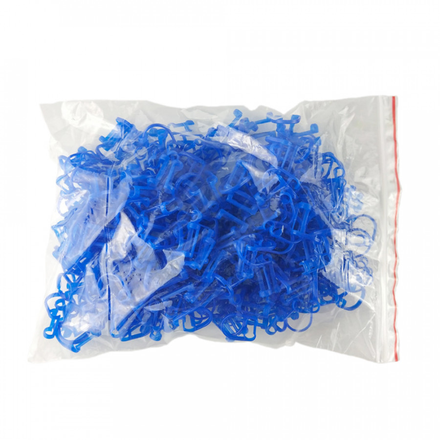 50 Pcs/Bag Disposable Orthodontic Cotton Roll Holder Blue Clip Isolator Tool For Dental Dentist Clinic