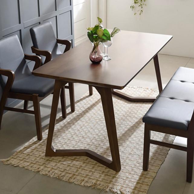 Bộ Bàn Ghế Hàn Quốc LENUS Table 6 – Bench 6 + 2 chair (W-B)
