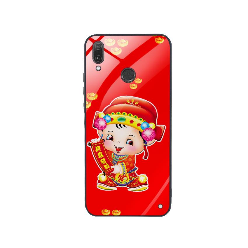 Ốp Lưng Kính Cường Lực cho điện thoại Huawei Y9 2019 - Thần Tài 05