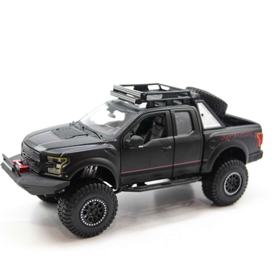 Mô hình xe DESIGN OFF-ROAD KINGS 2017 FORD F-150 RAPTOR BLACK 1:24 MAISTO MH-32521