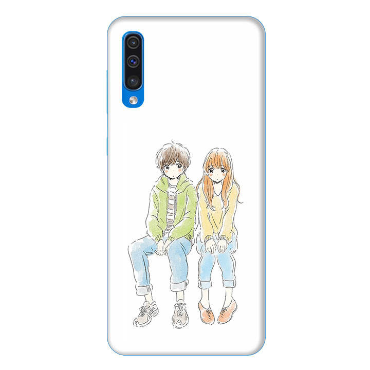 Ốp lưng dành cho điện thoại Samsung Galaxy A50 hình Anh và Em - Hàng chính hãng