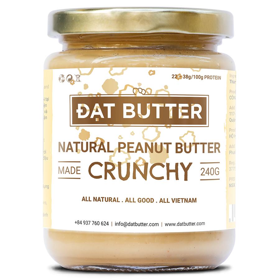 Bơ Đậu Phộng Tự Nhiên Có Hạt Đạt Butter (240g)