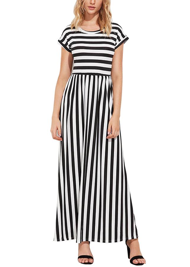 Đầm Nữ Maxi Sọc DRESS271