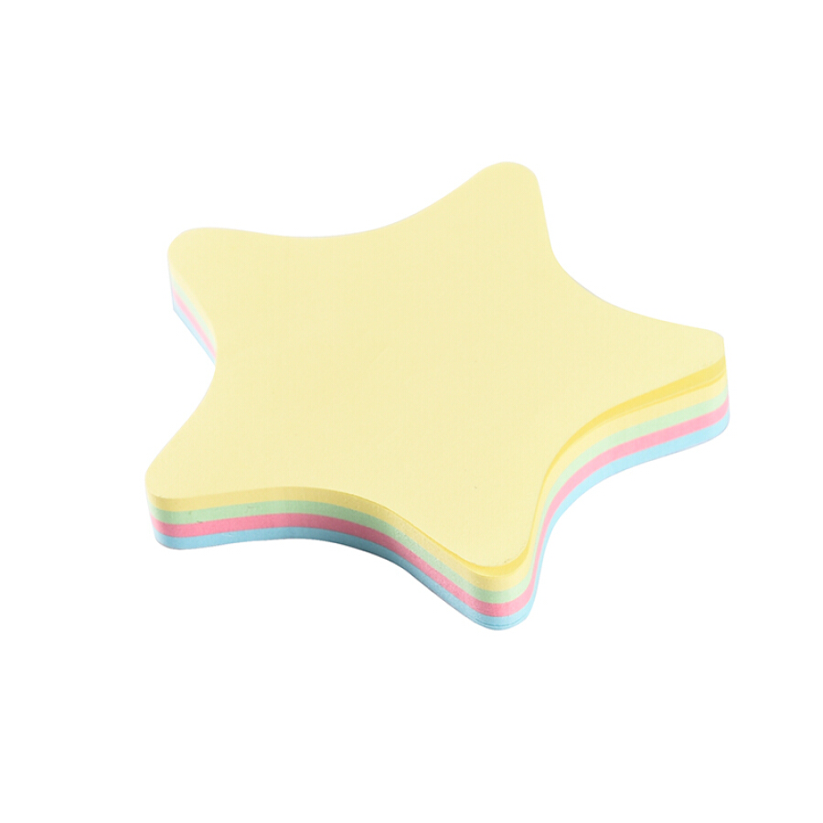 Zhengcai (ZNCI) creative post-it / Pepsi paste / note book / color message paper / sticky notes paper (76 * 76mm) five-pointed star 100 * 20...