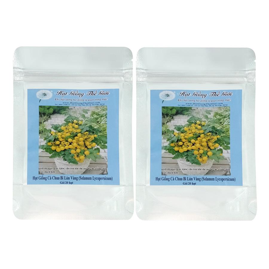 Bộ 2 Túi Hạt Giống Cà Chua Cherry Lùn Vàng - Solanum lycopersicum (20 Hạt)