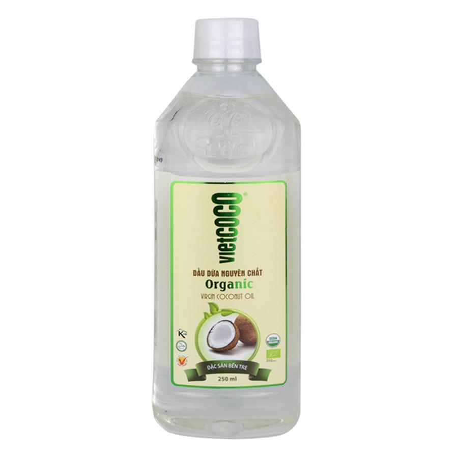 Dầu dừa nguyên chất Organic Vietcoco chai pet 250ml - 963094 , 6792514823445 , 62_2258643 , 41000 , Dau-dua-nguyen-chat-Organic-Vietcoco-chai-pet-250ml-62_2258643 , tiki.vn , Dầu dừa nguyên chất Organic Vietcoco chai pet 250ml
