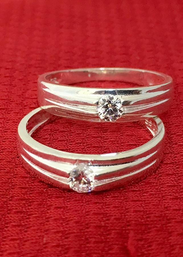 Nhẫn đôi bạc 925 trang sức Bạc QTJ - ND01- Trời sinh một cặp(bạc)