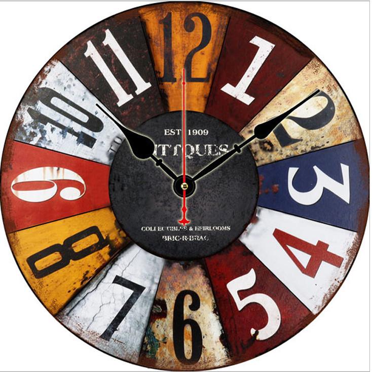 Đồng hồ treo tường Phong cách Châu Âu size to 30cm DH33
