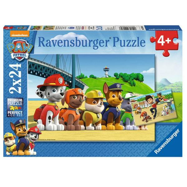 Bộ Xếp Hình Puzzle Ravensburger Heroic Dogs RV09064 8 (2 Bộ 24 Mảnh)