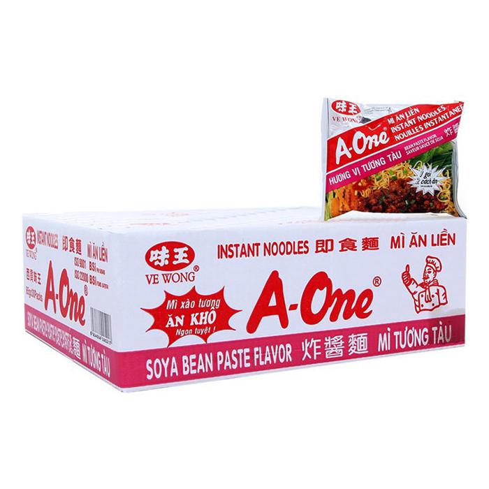 Thùng 30 Gói Mì A-One Hương Vị Tương Tàu (85g/ Gói)