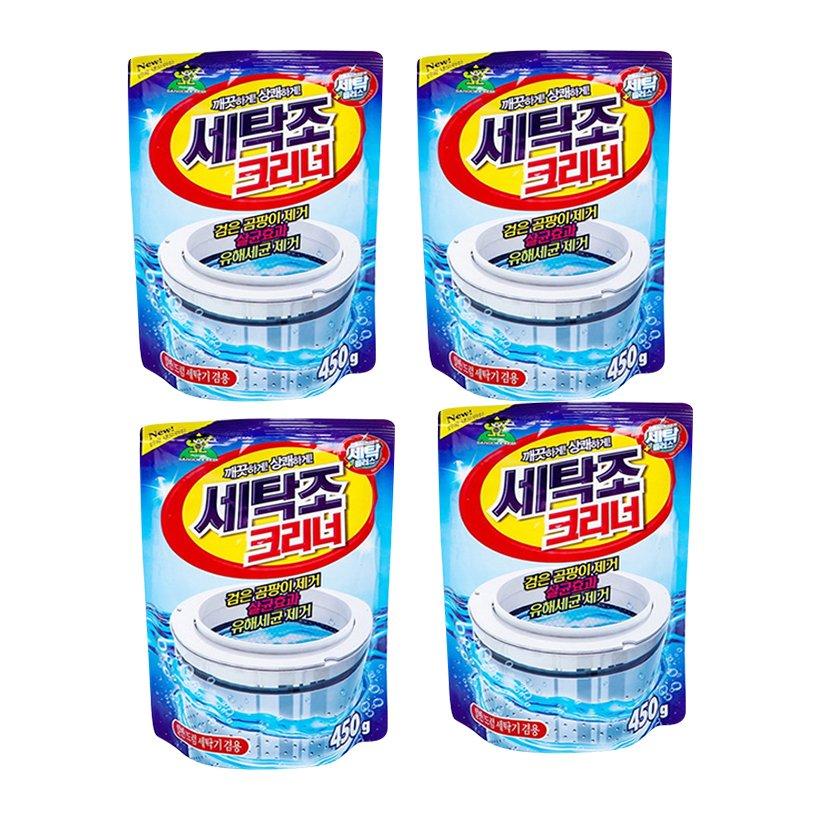 Combo 4 gói bột tẩy vệ sinh lồng máy giặt Sandokkaebi 450g Hàn Quốc - Hàng nhập khẩu - 20140500 , 6953649087861 , 62_25122161 , 320000 , Combo-4-goi-bot-tay-ve-sinh-long-may-giat-Sandokkaebi-450g-Han-Quoc-Hang-nhap-khau-62_25122161 , tiki.vn , Combo 4 gói bột tẩy vệ sinh lồng máy giặt Sandokkaebi 450g Hàn Quốc - Hàng nhập khẩu