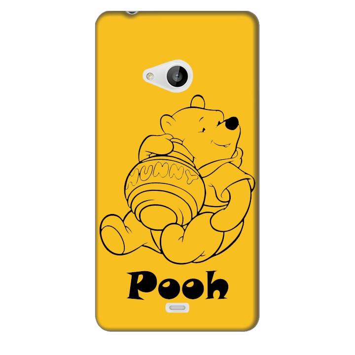 Ốp lưng nhựa cứng nhám dành cho Nokia Lumia 540 in hình Pooh