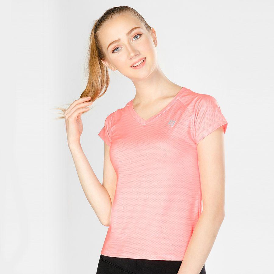 Áo Thể Thao Nữ W Basic V Neck Pink