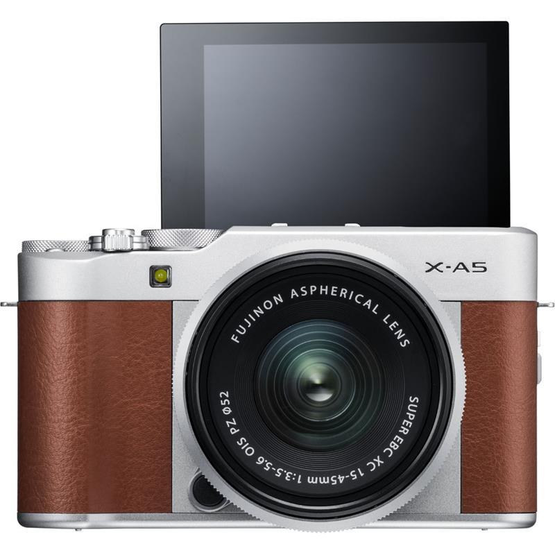 Máy Ảnh Fujifilm X-A5 Kit XC15-45mm f3.5-5.6 OIS (Nâu) + Thẻ Nhớ Sandisk 16GB Tốc Độ 48MB/s + Túi Đựng Máy Ảnh Fujifilm -...