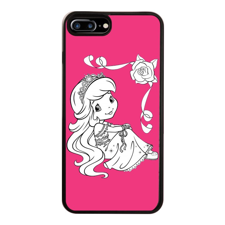 Ốp Lưng Kính Cường Lực Dành Cho Điện Thoại iPhone 7 Plus / 8 Plus Baby Strawberry Mẫu 11