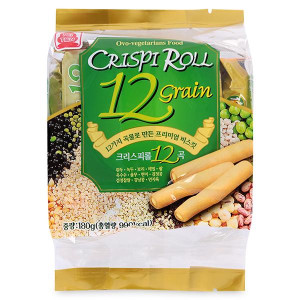 Bánh Cuộn Giòn 12 Loại Ngũ Cốc Pei Tien (180g)