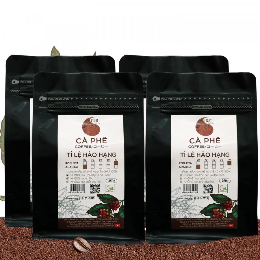 4 gói Cà phê bột nguyên chất 100% Tỉ lệ Hảo Hạng - 10% Robusta + 90% Arabica - Light coffee - gói 250g - 1254616 , 4986612387011 , 62_7089211 , 830000 , 4-goi-Ca-phe-bot-nguyen-chat-100Phan-Tram-Ti-le-Hao-Hang-10Phan-Tram-Robusta-90Phan-Tram-Arabica-Light-coffee-goi-250g-62_7089211 , tiki.vn , 4 gói Cà phê bột nguyên chất 100% Tỉ lệ Hảo Hạng - 10% Robus