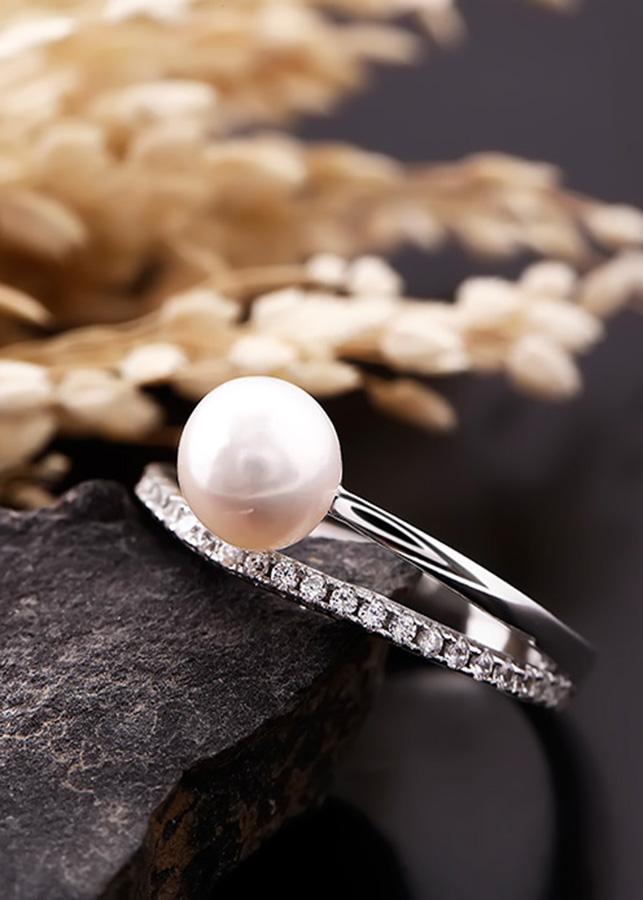 Nhẫn bạc ngọc trai Great